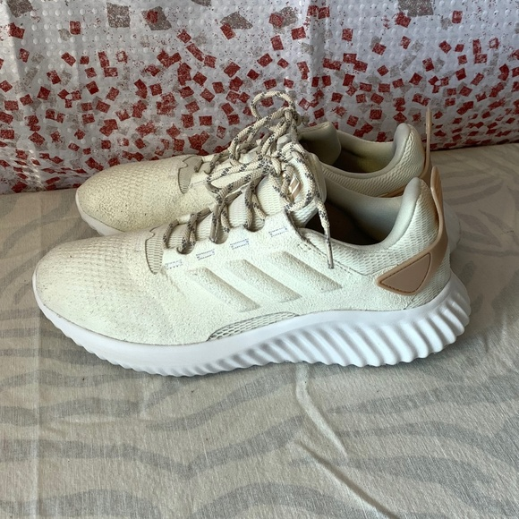 ed1456483 adidas Shoes - adidas WOMENS Bounce Cream Textured Athletic Shoes